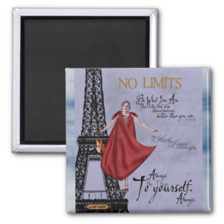 Be True to Yourself 2 Inch Square Magnet