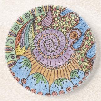 """""""Be Undefined"""" Mandala Sandstone Coaster"""