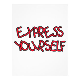Be Unique and Express Yourself Letterhead
