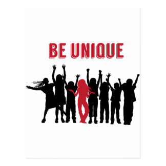 Be Unique Be Yourself Inspirational Postcard