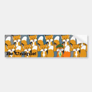 Be Unique! Bumper Sticker Car Bumper Sticker