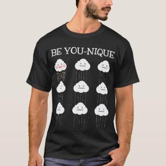 Be Unique Funny Kawaii Raincloud Graphic Tee