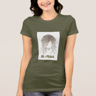 "BE UNIQUE Goth, ""Punk Girl"" Womens T-shirt"