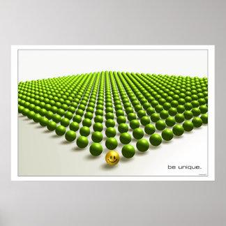 Be unique (green) print
