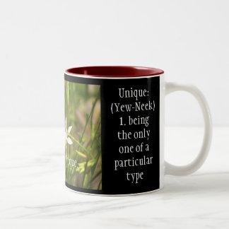 Be Unique Mug. Two-Tone Coffee Mug
