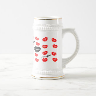 Be Unique Red & Black Kisses Beer Stein