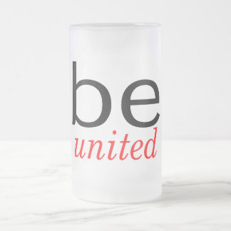 Be United Frosted Glass Beer Mug