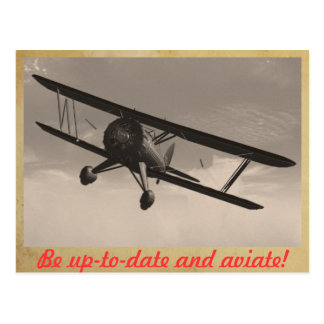 Be up-to-date and aviate! post card