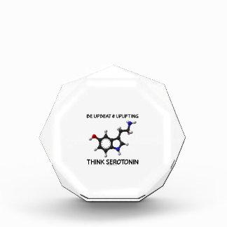 Be Upbeat And Uplifting Think Serotonin (Molecule) Acrylic Award