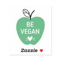 Be Vegan Apple Shaped Sticker