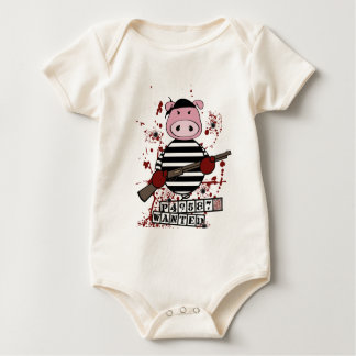 """""""Be Wanted""""- pig Baby Bodysuit"""