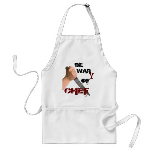 'BE WARY OF CHEF' APRON