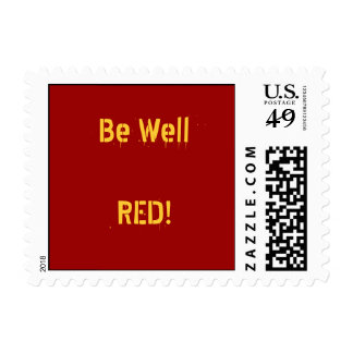 Be WellREAD! Postage Stamp