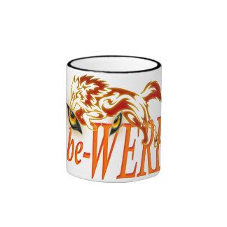 be-WERE Werewolf design Ringer Coffee Mug