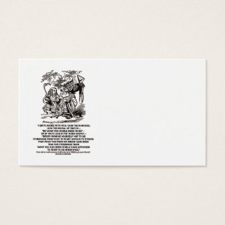 Be What You Would Seem To Be Duchess (Wonderland) Business Card