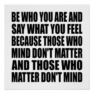 """Be Who You Are Life Quote Poster 24"""" x 24"""""""