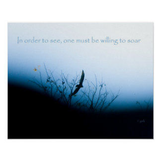 Be willing to soar poster