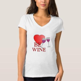 BE WINE HEART VALENTINES TEE SHIRT
