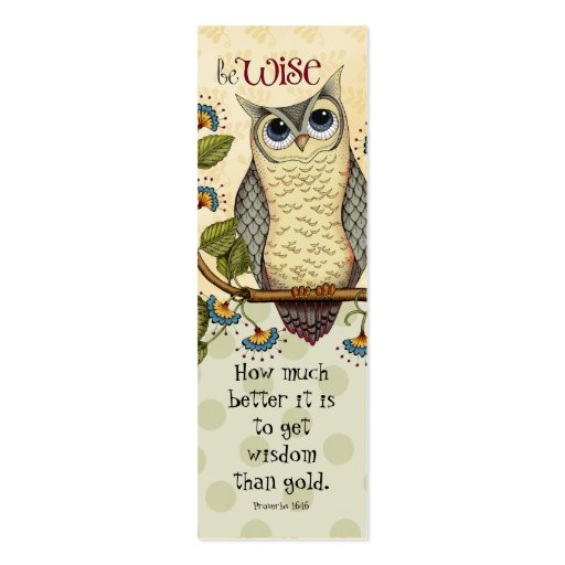 Be Wise - Bookmark Business Cards
