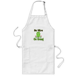 Be Wise Go Green Long Apron