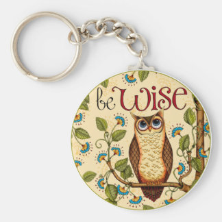 Be Wise Owl- Round Key Chain
