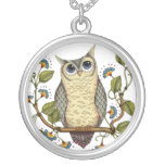 Be Wise Owl - Round Necklace