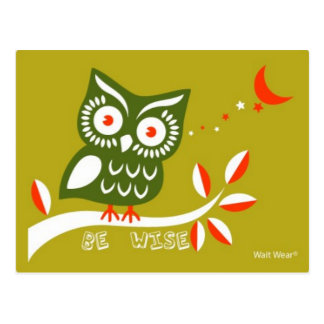 Be Wise Postcard