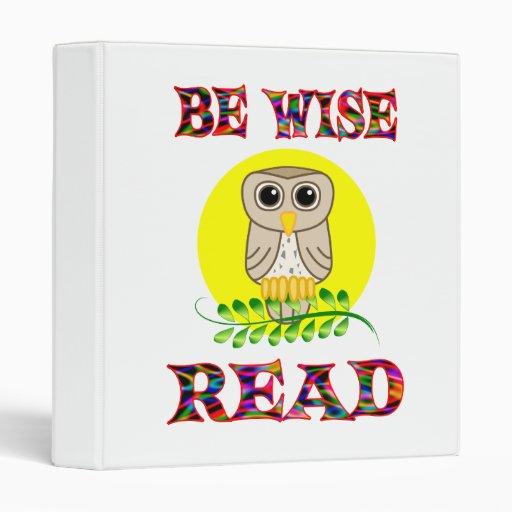 Be Wise Read Binders