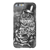 Be wise tattoo style owl artwork. iPhone 6 case