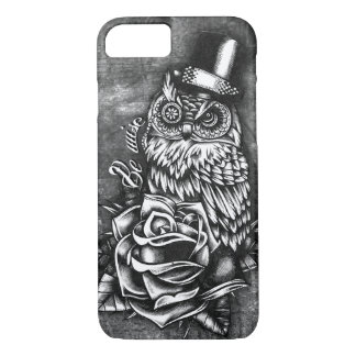 Be wise tattoo style owl artwork. iPhone 7 case