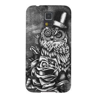 Be Wise tattoo style owl on digital wood base. Case For Galaxy S5