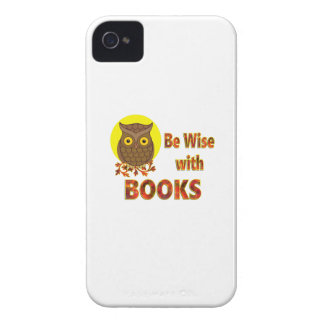 Be Wise With Books iPhone 4 Case