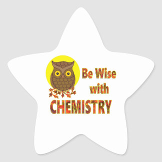 Be Wise With Chemistry Star Sticker