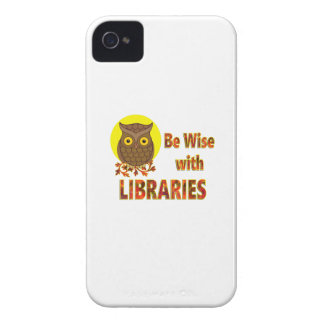 Be Wise With Libraries iPhone 4 Cover