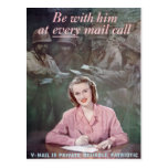 be with him post card