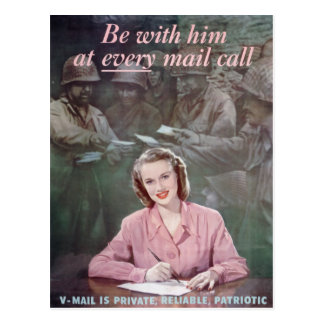 be with him postcard
