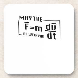 Be with You Math Physics Science Funny Gift Coaster
