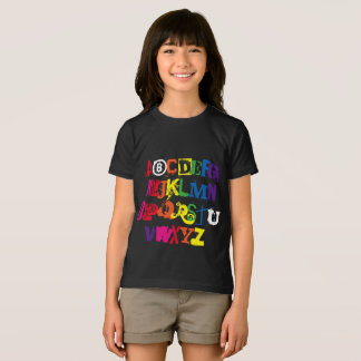 Be You Alphabet Funny Rainbow Typography T-Shirt