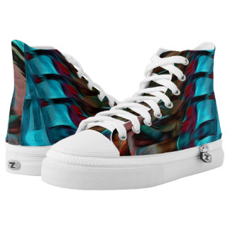 Be you blue abstract High Top Shoes