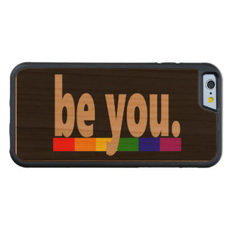 be you Gay Pride Rainbow Flag Carved Cherry iPhone 6 Bumper Case