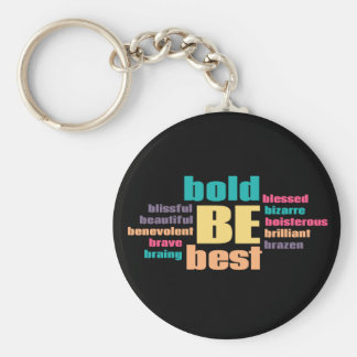 Be Your Best Inspirational Keychain
