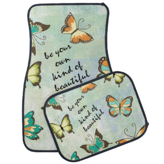 Be Your Own Beautiful Butterflies Car Mat