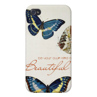 Be Your Own Kind of Beautiful. Monarch butterflies Case For iPhone 4