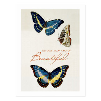 Be Your Own Kind of Beautiful. Monarch butterflies Post Card