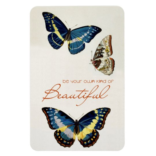 Be Your Own Kind of Beautiful. Monarch butterflies Rectangular Photo Magnet