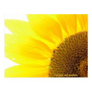 be your own sunshine sunflower postcard
