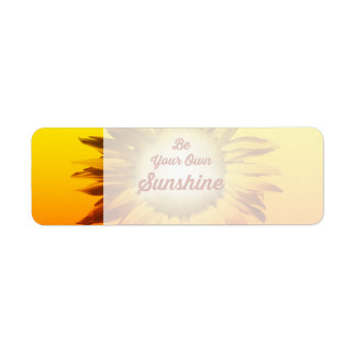 Be Your Own Sunshine Sunflower Red Yellow Ombre Label