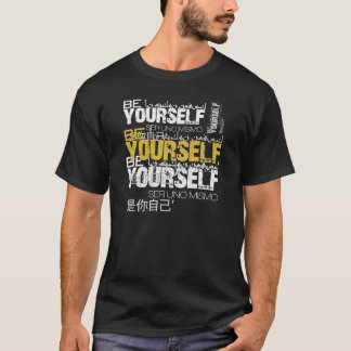 Be Yourself Basic Dark T-Shirt