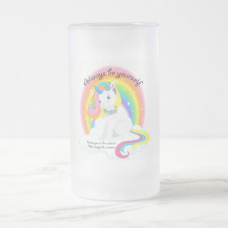 Be Yourself, Be a Unicorn Frosted Mug