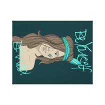 Be yourself be wild canvas print